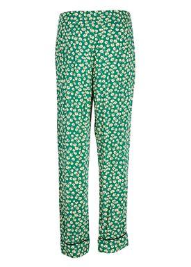 Ganni - Bukser - Dalton Crepe Pants - Verdant Green
