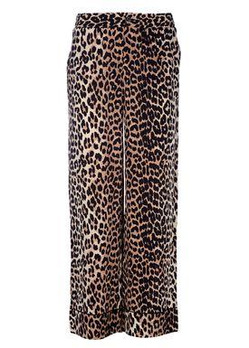 Ganni - Pants - Fayette Silk Trouser - Leopard