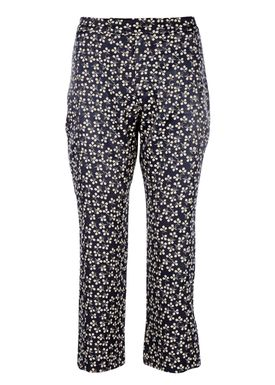 Ganni - Bukser - Greenville Jacquard Pant - Total Eclipse