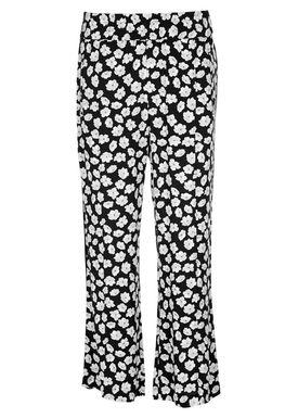 Ganni - Bukser - Montrose Crepe Pants - Total Eclipse