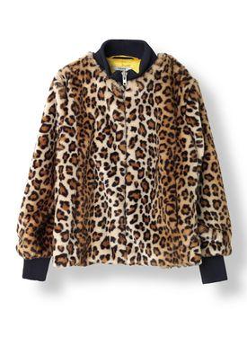 Ganni - Jacket - Ferris Faux Fur - Leopard