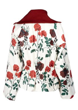 Ganni - Jakke - Greenwood Jacket - Vanilla Ice/Flowers