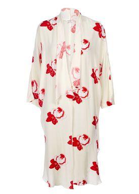 Ganni - Kimono - Harley Crepe Kimono - Vannila Ice/Red
