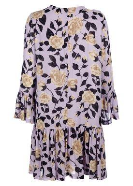 Ganni - Kjole - Carlton Georgette - Pastel Lilac