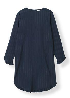 Ganni - Kjole - Clark Mini Dress - Total Eclipse