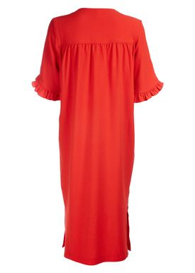 Ganni - Dress - Clark Short Sleeve - Big Apple Red