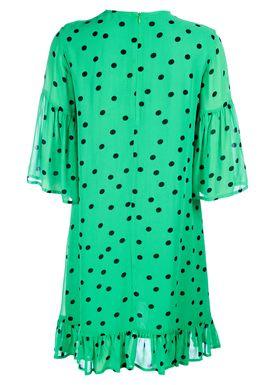 Ganni - Kjole - Dainty Georgette Dress - Classic Green
