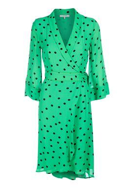 Ganni - Kjole - Dainty Georgette Long  - Classic Green
