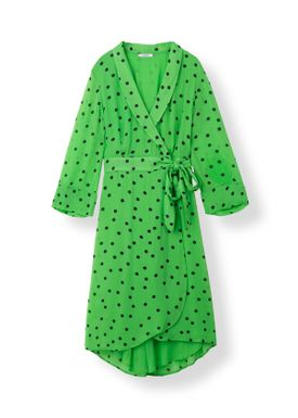 Ganni - Dress - Dainty Georgette Long  - Classic Green
