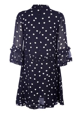Ganni - Kjole - Marceau Mini Dress - Total Eclipse/White Dots