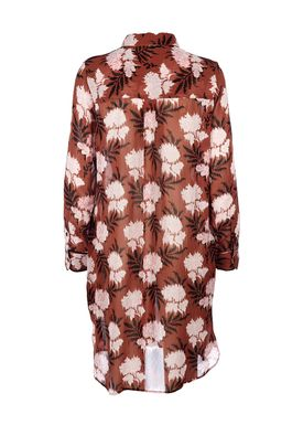 Ganni - Kjole - Monette Georgette Dress - Brandy Brown