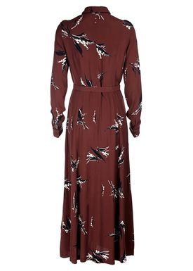 Ganni - Kjole - Montrose Crepe Maxi Dress - Decadent Chocolate