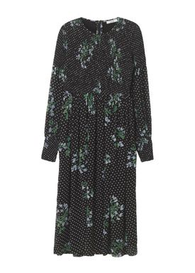 Ganni - Klänning - Rometty Georgette Smock Dress - Black