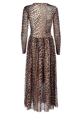 Ganni - Kjole - Tilden Mesh - Leopard