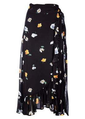 Ganni - Nederdel - Dainty Georgette Long Skirt - Black