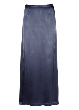 Ganni - Nederdel - Donnelly Satin Skirt - Mørk Navy