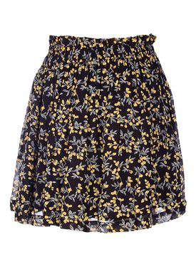 Ganni - Nederdel - Marceau Georgette Skirt - Black/Yellow Print
