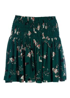 Ganni - Nederdel - Marietta Skirt - Pine Grove Leaves