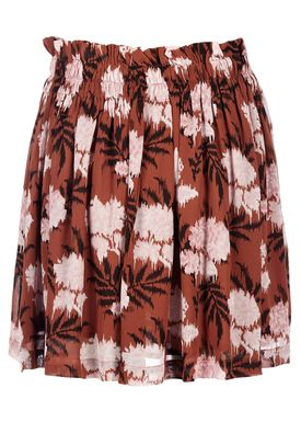 Ganni - Nederdel - Monette Georgette Skirt - Brandy Brown