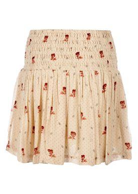 Ganni - Nederdel - Newmann Georgette Skirt - Biscotti