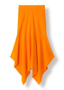 Ganni - Skirt - Wilkie Seersucker - Turmeric Orange