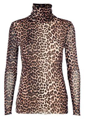 Ganni - Rullekrave - Tilden Rollerneck - Leopard