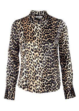Ganni - Shirt - Dufort Silk Shirt - Leopard Print