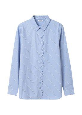 Ganni - Skjorte - Faulkner - Serenity Blue