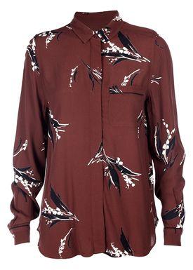 Ganni - Skjorte - Montrose Shirt - Decadent Chocolate
