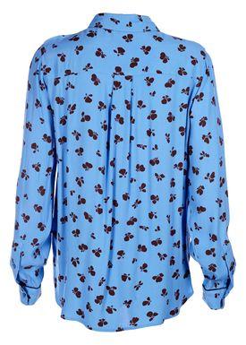Ganni - Skjorte - Roseberg Shirt - Marina