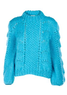 Ganni - Strik - The Juliard Mohair - Cyan Blue
