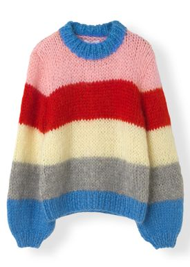 Ganni - Strik - The Julliard Mohair Knit - Block Colour