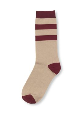Ganni - Socks - Classon Stripe - Cuban Sand