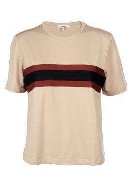Ganni - T-shirt - Dubois Polo Blouse - Cuban Sand (Beige)