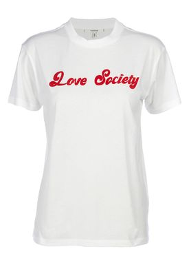 Ganni - T-shirt - Harway - White - Love Society
