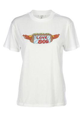 Ganni - T-shirt - Harway - White - Hotdog