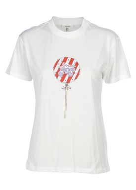 Ganni - T-shirt - Harway - White - Lollipop