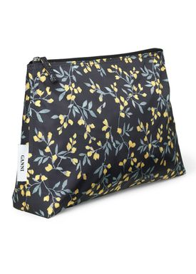 Ganni - Bag - Fairmont Toiletry - Black/Yellow Print