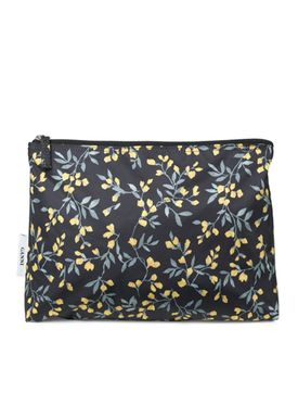 Ganni - Taske - Fairmont Toiletry - Black/Yellow Print