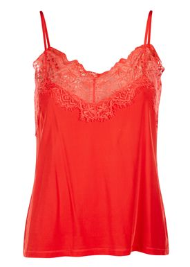 Ganni - Top - Montmartre - Fiery Red
