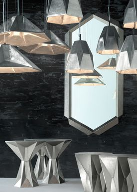 Tom Dixon - Lampe - Gem Tall Pendant - Nikkel