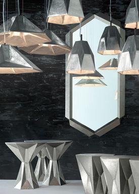 Tom Dixon - Lampe - Gem Wide Pendant - Nikkel