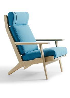 Getama - Lænestol - GE290 / Stol med høj ryg / af Hans J. Wegner - Egetræ
