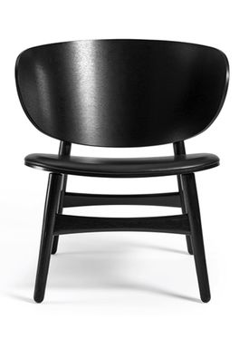 Getama - Fåtölj - GE1936 / Venus Chair / by Hans J. Wegner - Black Stained Oak w. black leather