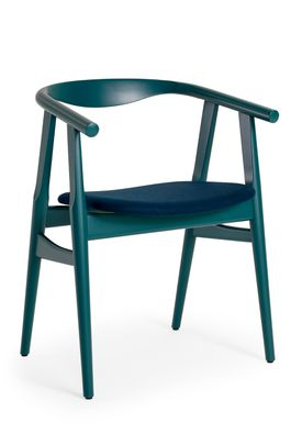 Getama - Chair - GE525 / The U-Chair / by Hans J. Wegner - Opal / Beechwood / Stained