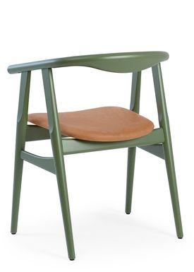 Getama - Chair - GE525 / The U-Chair / by Hans J. Wegner - Khaki / Beechwood / Stained