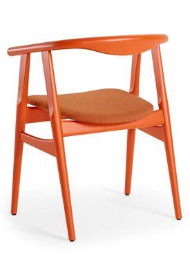 Getama - Chair - GE525 / The U-Chair / by Hans J. Wegner - Orange / Beechwood / Stained