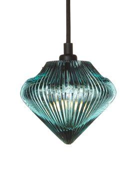 Tom Dixon - Lampe - Glass Top Pendant - Blå Glas