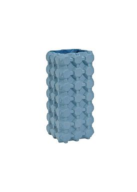 Tom Dixon - Vase - Grid Vase - Medium - Teal