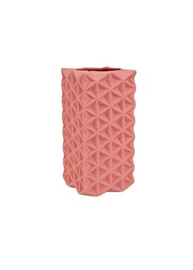 Tom Dixon - Vase - Grid Vase - Tall - Rose Pink